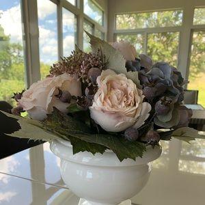 Michael's Blush Pink & Blue Faux Floral Decor